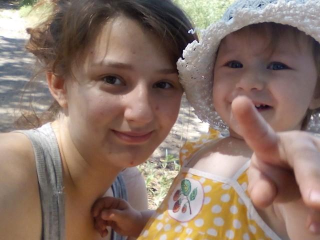 я с доченькой Олесей