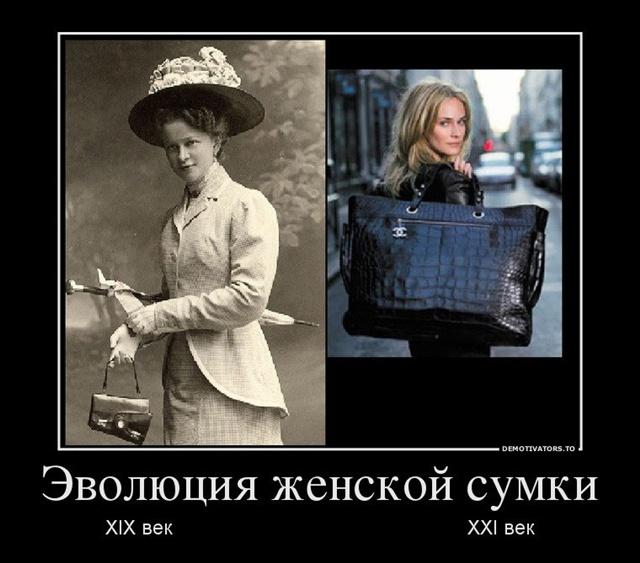 Демотиватор про женскую сумочку